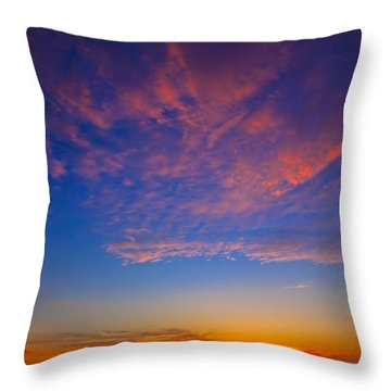 Pacific Coast Sunset Throw Pillow by Garry Gay