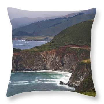 Pacific Coast View Throw Pillow