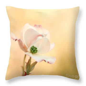 Pacific Dogwood Throw Pillow