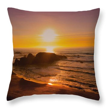 Pacific Gold Throw Pillow by Kandy Hurley