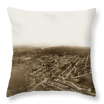 Pacific Grove 1200 From Feet Above Lovers Point And Monterey Bay 1906 Throw Pillow