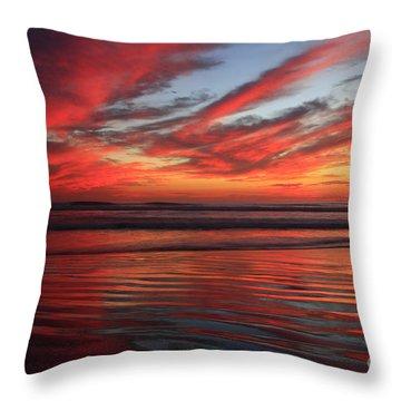 Oceanside Reflections Throw Pillow