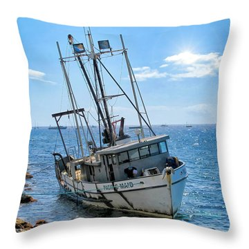Pacific Maid 2 Throw Pillow