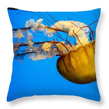 Pacific Nettle Jellyfish Throw Pillow
