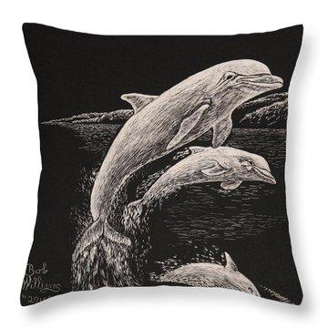 Pacific Ocean Acrobats  Throw Pillow