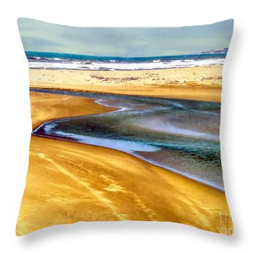 Pacific Ocean Beach Santa Barbara Throw Pillow