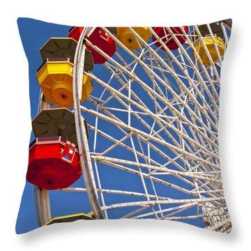 Pacific Park Ferris Wheel 1 Throw Pillow