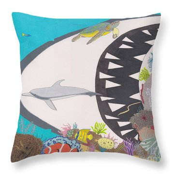 Pacific Peril Throw Pillow