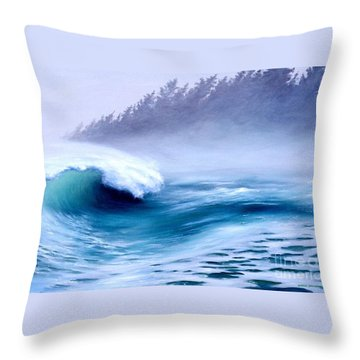 Throw Pillow featuring the painting Pacific Power  by Michael Swanson