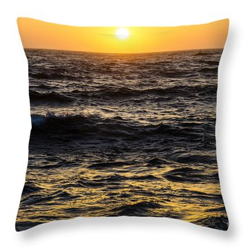 Pacific Reflection Throw Pillow by CML Brown