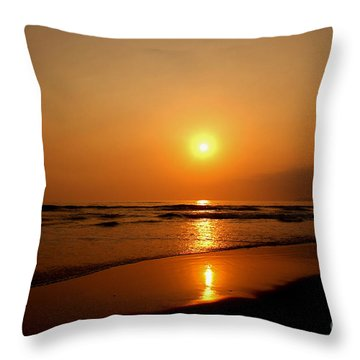 Pacific Sunset Reflection Throw Pillow