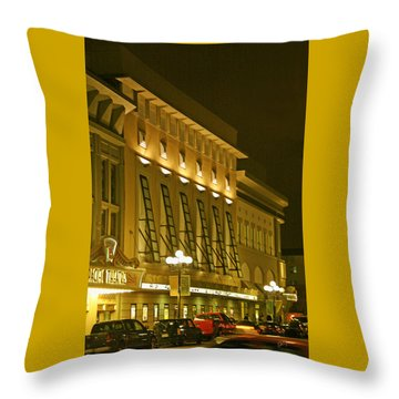 Pacific Theatres In San Diego At Night Throw Pillow by Ben and Raisa Gertsberg