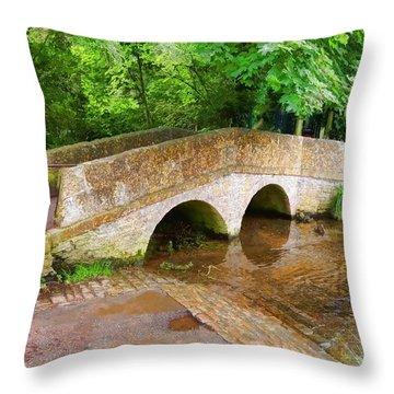 Pack Horse Bridge Throw Pillow
