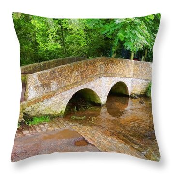 Pack Horse Bridge Throw Pillow