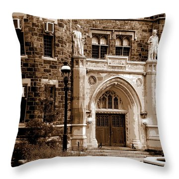 Packard Laboratory Sepia Throw Pillow
