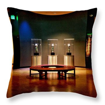 Packer Hall Of Fame Throw Pillow by Tommy Anderson