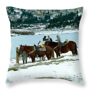 Packing Up Throw Pillow by Eric Glaser