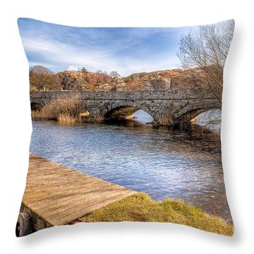 Padarn Bridge Throw Pillow by Adrian Evans