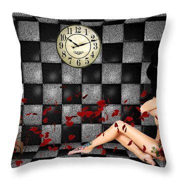 Padded Room Visions Throw Pillow by Kristie  Bonnewell