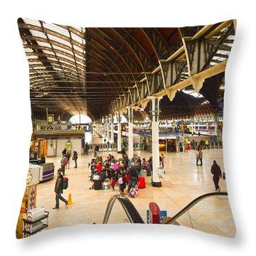 Paddington Station  Throw Pillow