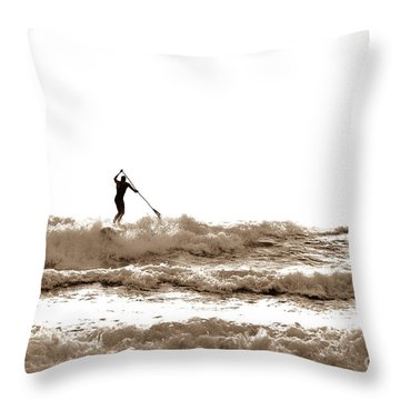 Paddle Board Fun Throw Pillow