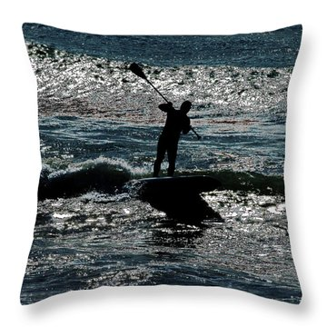 Paddleboard Dreams Throw Pillow