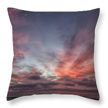 Paddleboarder Throw Pillow