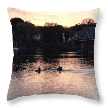 Paddling For Home Throw Pillow