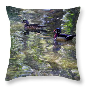 Paddling In A Monet Throw Pillow