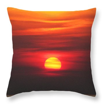 Paddling Under The Sun Throw Pillow
