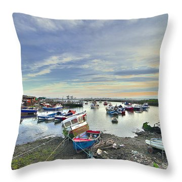 Paddy's Hole South Gare Teesside Throw Pillow