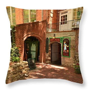 Paddys Hollow Restaurant And Pub Throw Pillow by Bob Sample
