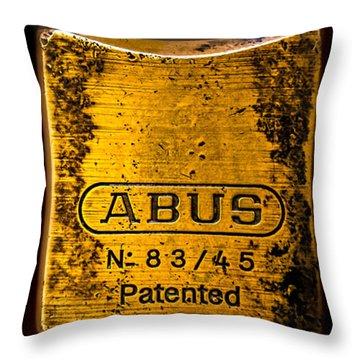 Padlock Throw Pillow by Bob Orsillo