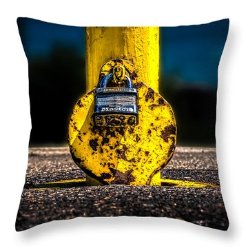 Padlock Number Two Throw Pillow by Bob Orsillo