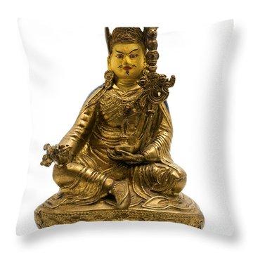 Padmasambhava Throw Pillow by Fabrizio Troiani