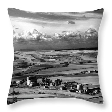 Landscape Tarquinian Former Oil Mill Throw Pillow