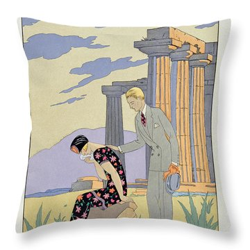 Paestum Throw Pillow by Georges Barbier