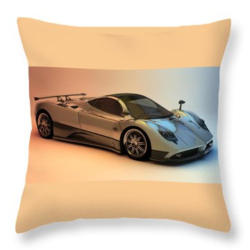 Pagani Zonda F Throw Pillow by Louis Ferreira