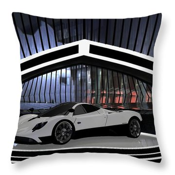 Pagani Zonda Throw Pillow by Louis Ferreira