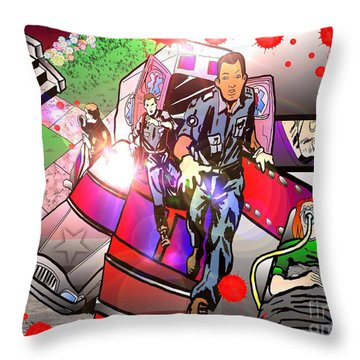 Page 8 And 9 Throw Pillow by Justin Moore