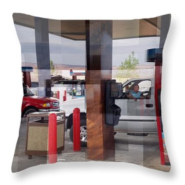Page Gas Throw Pillow