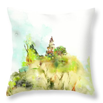 Pagoda Throw Pillow by Len YewHeng