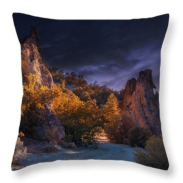 Throw Pillow featuring the photograph Pahrump - Road To Wheeler Peak by Gunter Nezhoda