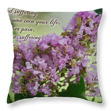 Pain And Suffering Kiss Of Jesus Throw Pillow