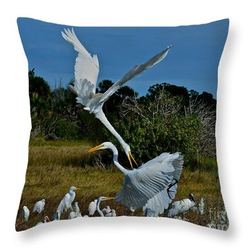 Pain In The Neck Throw Pillow