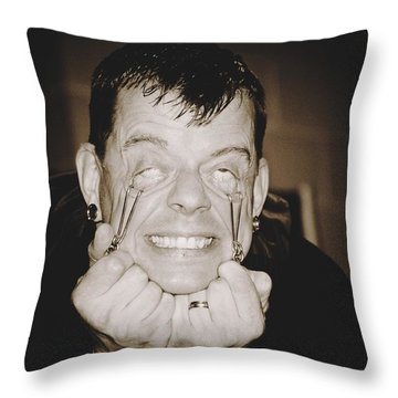 Throw Pillow featuring the photograph Painful by Alice Gipson