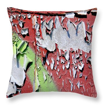 Paint Abstract Throw Pillow by Ed Weidman
