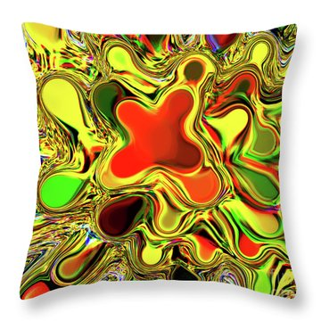 Paint Ball Color Explosion Throw Pillow