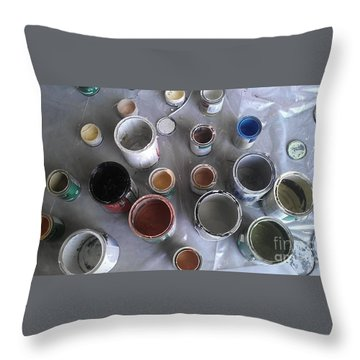 Throw Pillow featuring the photograph Paint by Chris Tarpening
