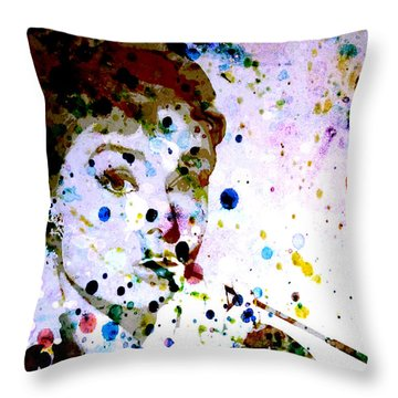 Throw Pillow featuring the digital art Paint Drops by Brian Reaves